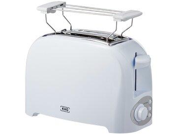 KHG Toaster  TO-755 (W) - weiß - Kunststoff - 27 cm - 17,5 cm - 14,8 cm - Sconto