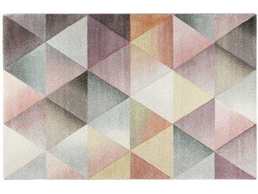 Kurzflorteppich - mehrfarbig - Heatset, Frisée, Synthethische Fasern - 133 cm - Sconto