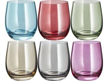 LEONARDO Gläser klein, 6er-Set  Sora - mehrfarbig - Glas - 26,7 cm - 10,3 cm - 17,8 cm - Sconto