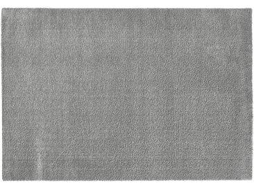 Hochfloorteppich  Soft Shaggy - silber - Mikrofaser, Synthethische Fasern - 140 cm - Sconto