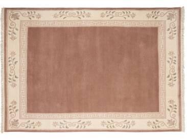 Nepal-Teppich  Classica - rosa/pink - 100 % Neuseelandwolle - 170 cm - Sconto