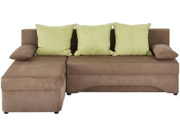 Polsterecke braun/grün - braun - 191 cm - 87 cm - 142 cm - Sconto