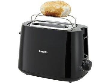 PHILIPS Toaster  HD 2581/90 - schwarz - Metall, Kunststoff - 30,4 cm - 21,4 cm - 18,4 cm - Sconto