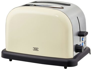 KHG Toaster creme  TO-1005 (CE) - creme - Edelstahl, Kunststoff - 30 cm - 20 cm - 18,3 cm - Sconto