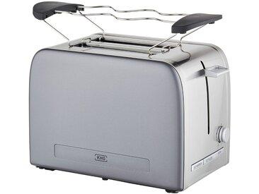 KHG Toaster - grau - Edelstahl, Kunststoff, Metall-lackiert - 31,7 cm - 18,8 cm - 21 cm - Sconto