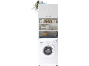 WC-/Waschmaschinen Überbau - weiß - 65 cm - 195 cm - 21 cm - Sconto