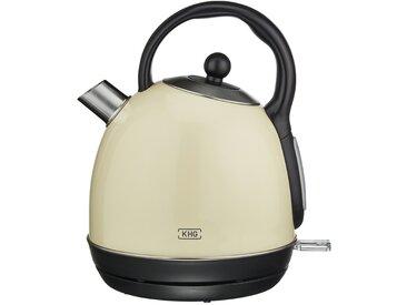 KHG Wasserkocher - creme - Metall-lackiert, Kunststoff, Edelstahl - 23,5 cm - 26,5 cm - 19 cm - Sconto