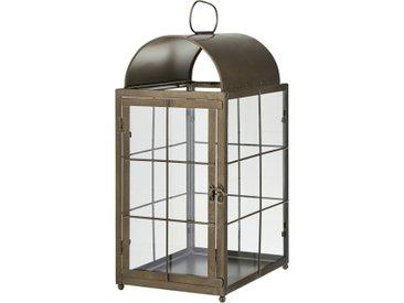 Laterne - braun - Eisen, Glas - 30 cm - 48,5 cm - 21 cm - Sconto