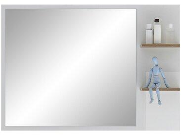 Spiegel mit seitlicher Ablage  Noventa - holzfarben - 100 cm - 74,5 cm - 15,5 cm - Sconto
