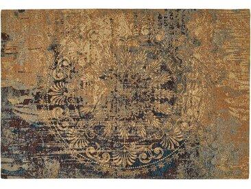 Webteppich  Antique - blau - 55% Acryl-Chenille, 27% Polyester, 18% Baumwolle, Synthethische Fasern - 160 cm - Sconto