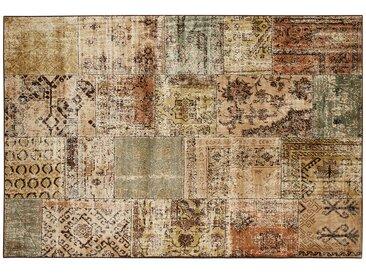 Kurzflorteppich  Matrix - mehrfarbig - Viskose, 100% Viscose - 135 cm - Sconto