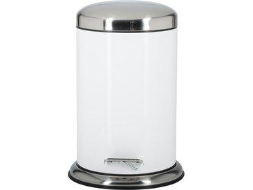 KHG Treteimer - weiß - Aluminium - 44,3 cm - Sconto