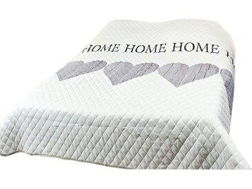 Bett- und Sofaüberwurf  Home - weiß - 220 cm - Sconto