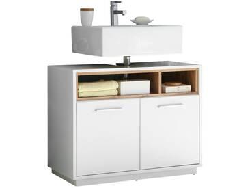 Waschbeckenunterschrank - weiß - 80 cm - 64 cm - 40 cm - Sconto