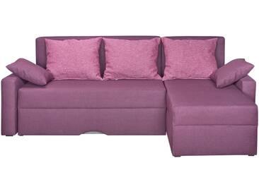 Ecksofa  Dual Fun - rosa/pink - 210 cm - 77 cm - 124 cm - Sconto