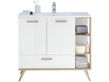 Waschtischunterschrank  Noventa - weiß - 100,5 cm - 87,5 cm - 46 cm - Sconto