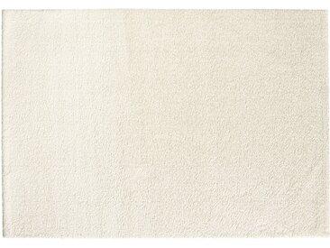 Hochfloorteppich  Soft Shaggy - weiß - Mikrofaser, Synthethische Fasern - 140 cm - Sconto