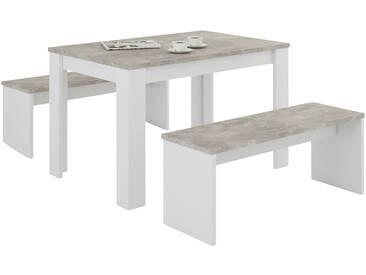 Tischgruppe - weiß - Sconto