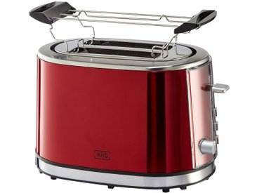 KHG Toaster  TO-852 (MRE) - rot - Kunststoff, Metall-lackiert - 33,5 cm - 21 cm - 24,5 cm - Sconto