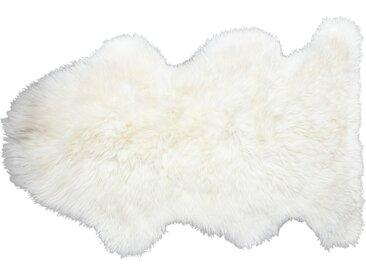 Lammfell - weiß - Schaffell, 100% Lammfell - 73 cm - Sconto