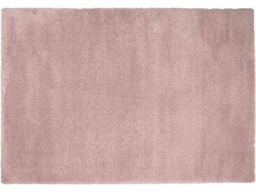 Hochfloorteppich  Soft Shaggy - rosa/pink - Mikrofaser, Synthethische Fasern - 140 cm - Sconto