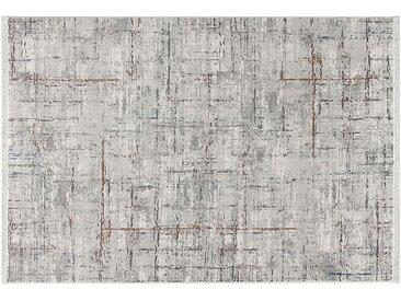 Kurzflorteppich - grau - 100% Polyester, Synthethische Fasern - 133 cm - Sconto