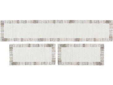 Bettumrandung  Madison - grau - Synthethische Fasern, 100% Polypropylen Heatset - 67 cm - 340 cm - Sconto
