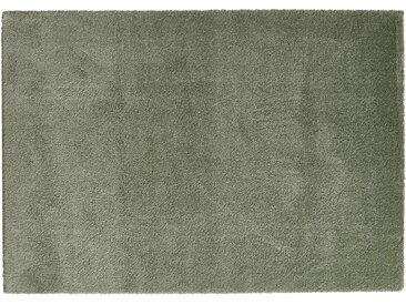 Hochfloorteppich  Soft Shaggy - grün - Mikrofaser, Synthethische Fasern - 140 cm - Sconto