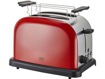 KHG Toaster rot  TO-1005 (RS) - rot - Edelstahl, Kunststoff - 30 cm - 20 cm - 18,3 cm - Sconto