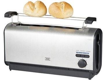KHG Langschlitz-Toaster  TO-901LS (E) - silber - Metall, Kunststoff - 36,2 cm - 18,4 cm - 11,7 cm - Sconto