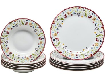 Ritzenhoff & Breker Tafelservice, 12-teilig - mehrfarbig - Porzellan - Sconto