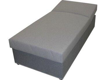 Polsterliege  Stefi 4 - grau - 92 cm - 53 cm - 202 cm - Sconto