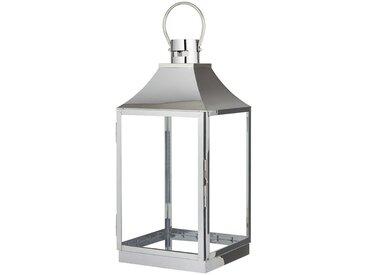 Laterne - silber - Metall, Glas - 26,5 cm - 55,8 cm - 25 cm - Sconto