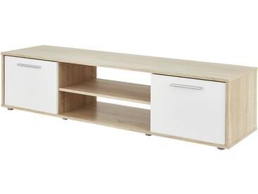 TV-Lowboard - weiß - 159 cm - 39 cm - 40 cm - Sconto