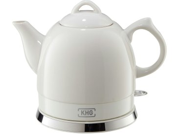 KHG Keramik-Wasserkocher  WK-080K (W) - weiß - Metall, Kunststoff, Keramik - 25 cm - 19 cm - 15 cm - Sconto