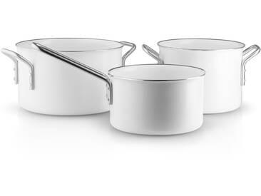 Eva Solo Eva Trio - White Line Topfset Stielkasserolle 1.8 l / Kochtopf 2.5 l / Kochtopf 3.8 l