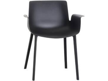 Kartell - Piuma Stuhl, schwarz