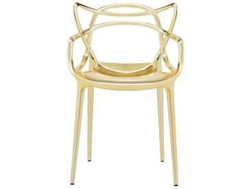 Kartell - Masters Stuhl, metallic gold