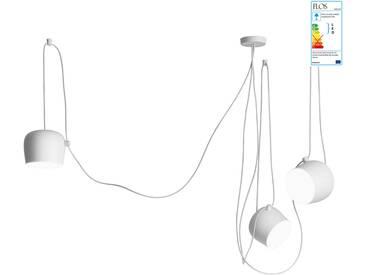 Flos - AIM LED-Pendelleuchten-Set (3 Pendelleuchten + Vielfach-Rosette), weiß