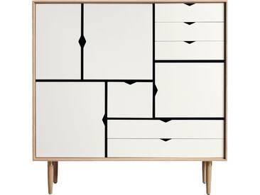 Andersen Furniture - S3 Kommode, Eiche geölt/ Fronten weiß