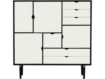 Andersen Furniture - S3 Kommode, Eiche schwarz lackiert/ Fronten weiß