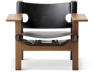 Fredericia Furniture Fredericia - Spanish Chair, Eiche geräuchert und geölt / Leder schwarz