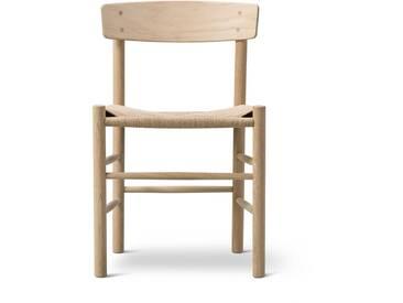 Fredericia Furniture Fredericia - J39 Mogensen Stuhl, Eiche geseift / Schnurgeflecht Natur
