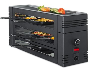 Spring Switzerland GmbH Spring - Pizza Raclette 6 mit Alu-Grillplatte, schwarz