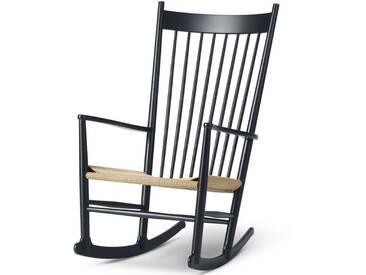 Fredericia Furniture Fredericia - J16 Schaukelstuhl, Eiche schwarz lackiert / natur