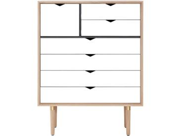 Andersen Furniture - S8 Kommode, Eiche geseift / Fronten weiß