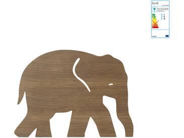 ferm Living - Elefant Wandleuchte, Eiche geräuchert