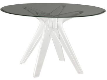 Kartell - Sir Gio Tisch, rund Ø 120 cm, weiß transparent / fumé