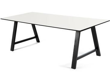Andersen Furniture - T1 Ausziehtisch 180cm, Eiche schwarz / Laminat weiß