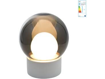 Pulpo - Boule small Tischleuchte, rauchgrau / weiß / Sockel weiß